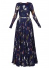 Exclusive Trendy Look Floral Print Designer Gown