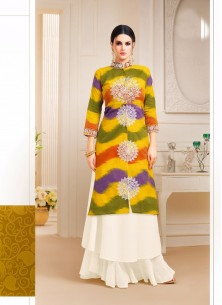 Absorbing Cotton Multi Printed Palazzo Salwar Suit