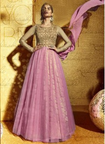 Adorable Pink Anarkali Suit
