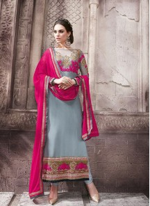 Adorable Georgette Diamond Work Anarkali Suit