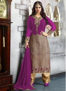 Adorable Georgette Embroidered work gown