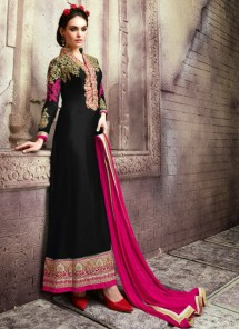 Adorable Georgette Embroidered Anarkali Suit