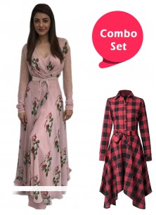 Adorable Printed Frock & Colored Printed Gown- Pack of 2