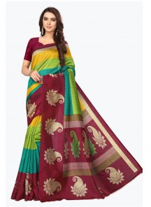 Adorning Bhagalpuri Silk Printed Casual Saree