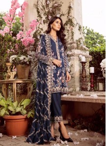 Adorning Heavy Georgette Fabric Embroidered Work Designer Suit