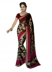 Aesthetic Multi Color Printed  Bhagalpuri Silk Saree