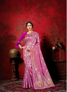 Alluring Banarasi Silk Weaving Designer Traditional Saree