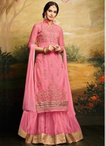 Alluring Banglori Silk Embroidered Anarkali Suit
