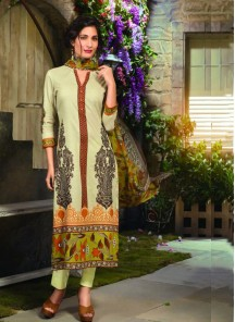 Swanky Chanderi Cotton Designer Suit