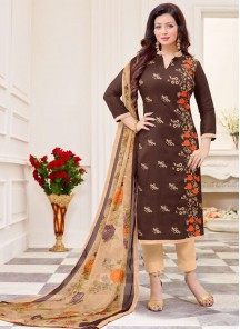 Alluring Cotton  Print Churidar Suit