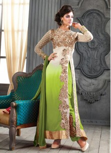 Alluring  Faux Georgette Ankle Lenght Suit