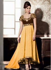 Alluring Georgette Embroidered Anarkali Suit