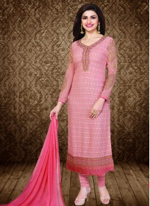 Alluring  Georgette Straight Suit