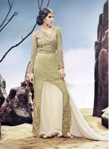 Amazing Georgette Embroidered Pant Style Suit