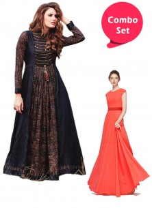 Amazing Gorgette Gown & Wear Gown Style Western Kurti - Pack of 2