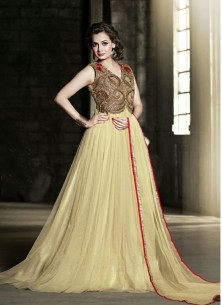 Amazing Yellow  Net gown
