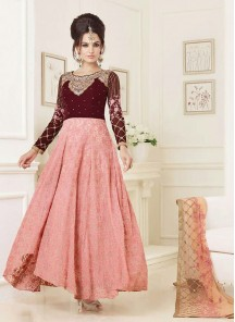 Charming net and sentoon Anarkali Suit