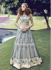 Designer Net and georgette Anarkali Suit