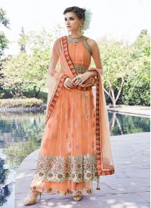 Glorious Net and  Georgette Anarkali Suit