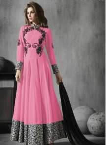 Buetiful georgette  Embroidered work Anarkali Suit