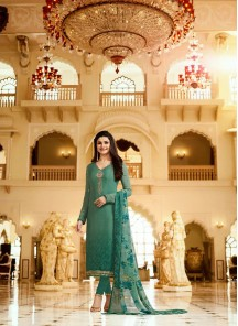 Angelic Embroidery Work Crepe Salwar Kameez