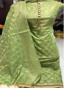 Artistic Banarasi Jacquard weaving Work Dress Material
