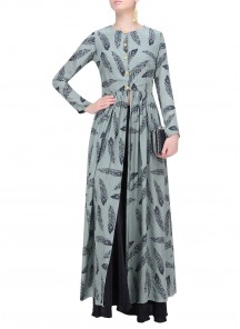 Feathers Touch Printed Long Kurti