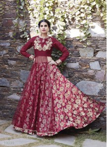 Astonishing Georgette Lehenga Style Gown