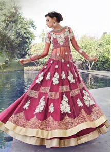 Attractive Net and  Georgrtte Anarkali suit