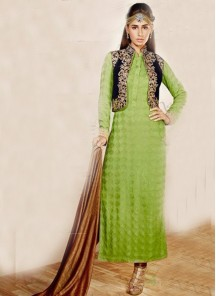 Appealing Sea Green Anarkali Salwar Kameez
