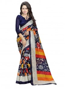 Attractive Bhagalpuri Silk Printed Saree