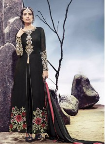 Attractive black designer suit