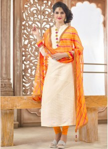 Attractive Chanderi Print Salwar suit
