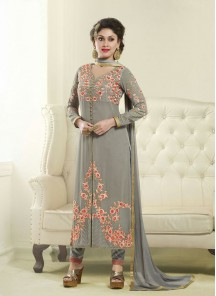 Attractive  Georgette Churidar Suit