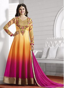 Attractive Georgette Embroidered Anarkali Suit