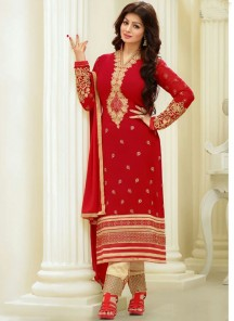 Attractive Susmita Sen Georgette Churidar Suit