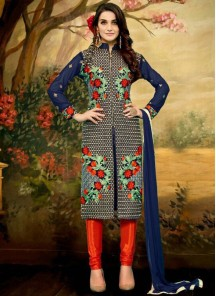 Gratifying Banglori Silk Churidar Suit