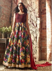 Beautiful Banarasi Embroidered Anarkali Suit