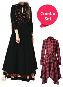 Beautiful Casual Printed Frock & Rayon Gown- Pack of 2