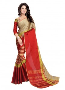 Beautiful Cotton Silk Multi Color Printed Saree