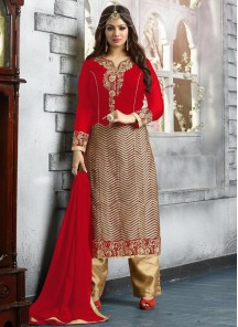 Beautiful Georgette Embroidered Salwar suit