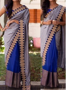 Beautiful Hand Embroidery Georgette Casual Saree