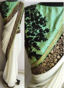Beautiful Sequins Work Georgette Casual Saree