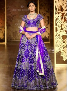 Bedazzling Violet Embroidered Work Designer Lehenga Choli