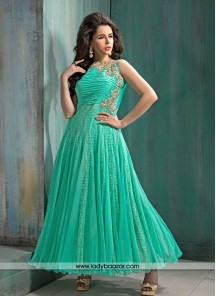 Bewitching Sea Green Designer Suit