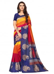 Bhagalpuri Silk Multi Color Printed Casual Saree
