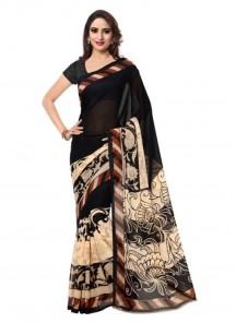 Black Bhagalputi Silk Casual Saree