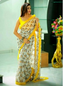 Brilliant Abstract Digital Print Multi Colour Printed Saree
