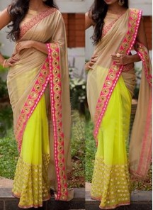 Fab georgette Casual Saree