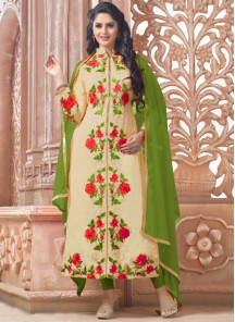 Adorable Chanderi Salwar suit